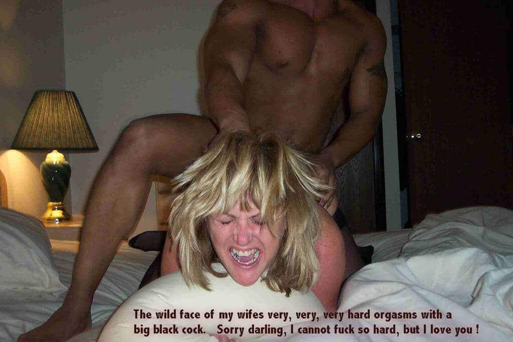 Orgasm hotwife - Big black cock
